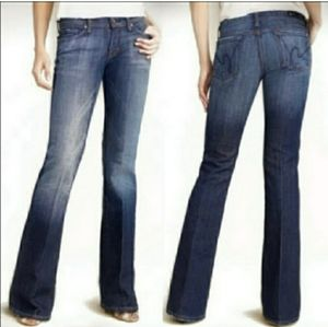 Anthro CofH Ingrid stretch low waist flare jeans